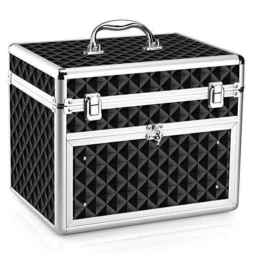 Makeup Case - Professional Portable Aluminum Cosmetic for sale  Delivered anywhere in USA