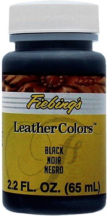 Fiebings Leathercraft Leather Dye 2.2oz Fiebings-Tinte para Piel (2,2 g), Color Negro