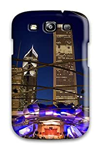 Bareetttt Case Cover For Galaxy S3 - Retailer Packaging Pavilion Millennium Park Chicago Illinois Protective Case