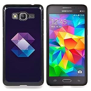 Stuss Case / Funda Carcasa protectora - Cristal Gema Polígono Negro - Samsung Galaxy Grand Prime G530H/DS