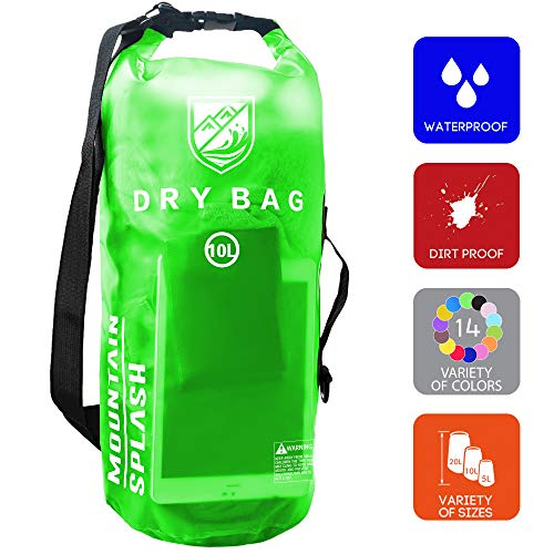 Water Boating (Waterproof Dry Bag 5L/10L/20L-Water Resistant Lightweight Backpack with Handle-Floating Dry Storage Ocean Bag Keeps Gear Impervious to Water-Perfect for Kayaking, Boating, Birthday Gift, Vacation.)