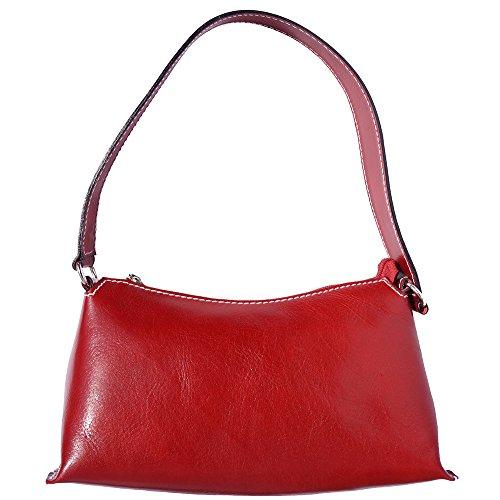6504 Florence Leather Con Manico Singolo Rosso Market Borsa A Spalla RBqR8
