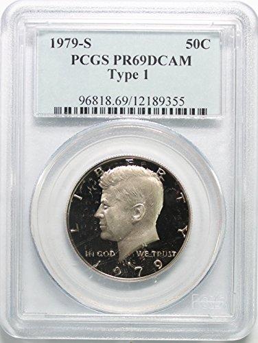 1979 S Kennedy Clad Half Dollar 50c PR69DCAM PCGS Type 1 Clad Half Dollars