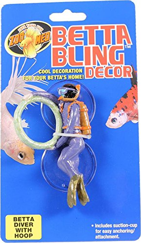 Fish Training - Zoo Med Laboratories Betta Bling Diver With Hoop