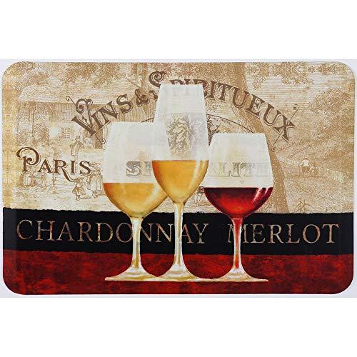 Oversized Chef Series Antifatigue Kitchen Mats (Paris Wine, 24 inch x 36 inch)