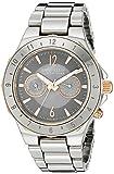 Anne Klein Women's 12/1979RMCC Multi-Function Rose Gold-Tone Accented Silver-Tone Ceramic Bracelet Watch