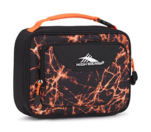 High Sierra Single Compartment Lunch Bag, Fireball/Black/Electric Orange (Orange Lunch)
