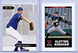 Just Minors CLAYTON KERSHAW 2006 1ST EVER PRINTED 2 CARD ROOKIE LOT! LOS ANGELES DODGERS!