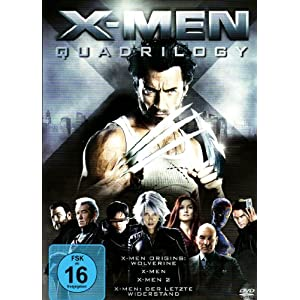 X Men Quadrilogy (4 DVDs) für 14,99€