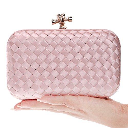 Evening Fashion Bag Dinner Bag Pink Bag Ladies GROSSARTIG Hand Weaving Banquet qxCwHnEg