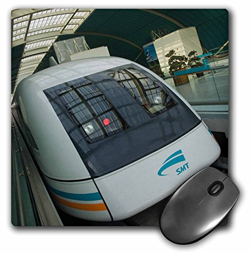 Pudong Shanghai China (3dRose LLC 8 x 8 x 0.25 Inches Mouse Pad, China, Shanghai. Pudong. Shanghai Mag-Lev Train -As07 Wbi0707 - Walter Bibikow (mp_75758_1))