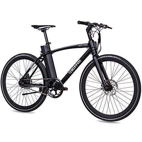 CHRISSON 28 inch E-bike City Bike eOCTANT met stuurdisplay zwart – elektrische fiets Urban Bike met Aikema…