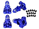 Microheli Precision CNC AL Prop Adapter w/ Nut Cap set (BLUE/PURPLE) - BLADE 350 QX
