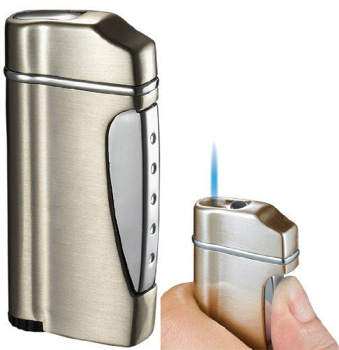 (Visol Nolet Satin Titan Wind-Resistant Torch Flame Lighter)