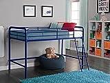 loft bedroom ideas DHP Junior Loft Bed Frame With Ladder, Navy Blue