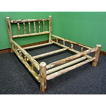 Amazoncom Midwest Log Furniture Rustic Log Bed King Kitchen