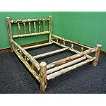 Rustic Pine Log Bedroom Suite - 5pc - King Log Bed