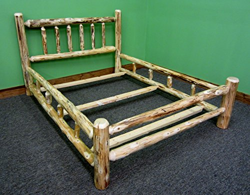 (Midwest Log Furniture- Rustic Log Bed - King)