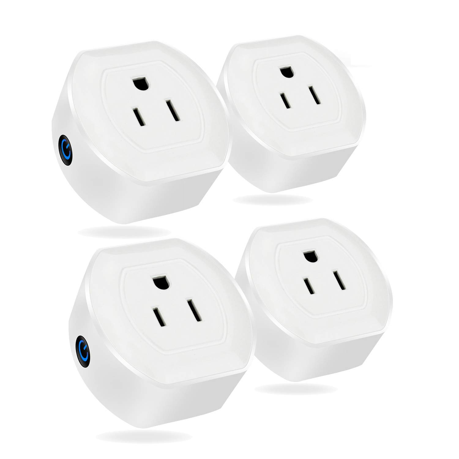 no Hub Required Wifi Smart Socket V04 Google Home MartinJerry Mini Wifi Smart Plugs that Work with Alexa 4 Pack Smart Home Devices to control your appliance from anywhere