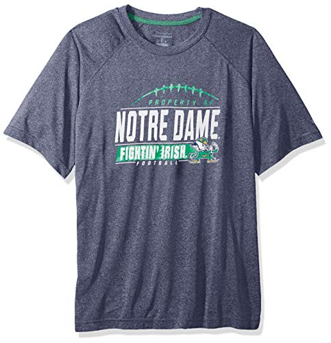 NCAA Notre Dame Fighting Irish Mens NCAA Men's Short Sleeve Football Season Jersey Teechampion NCAA Men's Short Sleeve Football Season Jersey Tee, Sports Navy, X-Large - Irish Notre Dame Soccer Ball