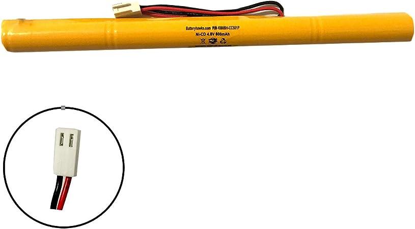 Dual-Lite 93015994 Hubbell SEWLDGBE 4.8v 600mah AA Ni-CD 4.8v 900mAh Ni-CD Battery Pack Replacement for Emergency//Exit Light