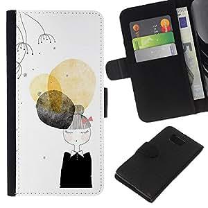 KLONGSHOP // Tirón de la caja Cartera de cuero con ranuras para tarjetas - Negro Señora Nun Moda Minimalista - Samsung ALPHA G850 //