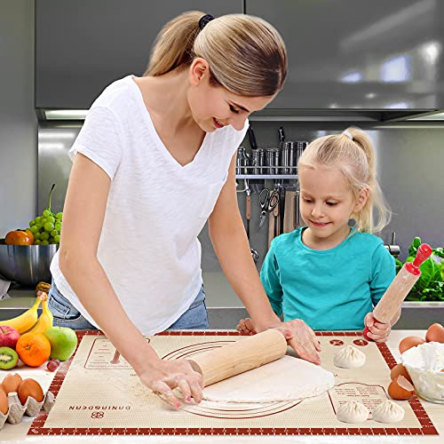 Silicone Pastry Baking Mat,Extra Thick 16\'\'x26\'\' Non Stick Silicone Baking Mat for Rolling Dough, Pie Crust,Fondant, Pizza and Cookies Silpat – Easy Clean Food Grade Silicone Mat