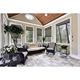 CHICOLOGY Natural Woven Wood Privacy Window Blind