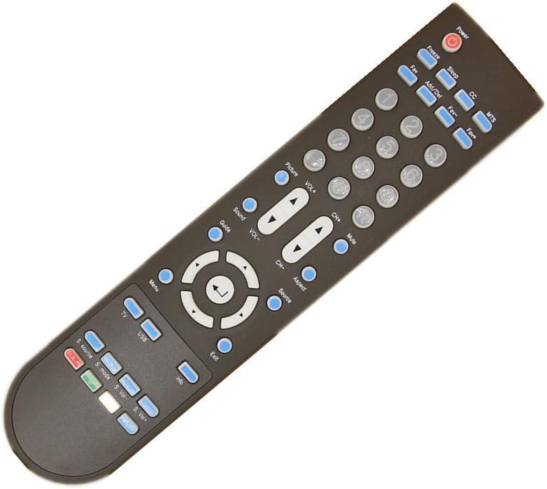 Rlsales General Replacement Remote Control Fit for Sceptre E485BV-FMQR X322BV-HDR E195BD-SHD E195BD-SHDC Plasma LCD LED HDTV TV