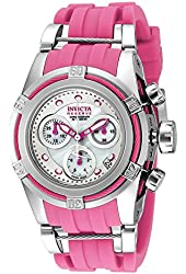 Invicta Reserve Women's Bolt Zeus Swiss Made Quartz Chronograph Silicone Strap Watch 18682 PINK