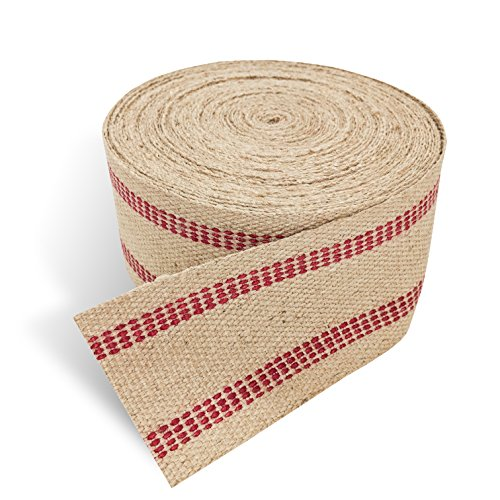 Red Upholstery Craft Jute Webbing, 11 lbs 3.5'' x 10Yd and 20 Yd Rolls (20 yd) by Wholesale Upholstery Supply (Image #1)