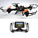 CY RC Drone with Camera Include Fpv Screen on Remote Controller Fpv Quadcopters With Camera (Black)