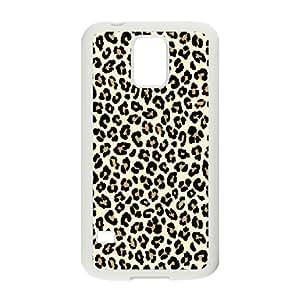 Leopard Print Samsung Galaxy S5 Case, Zachcolo - White