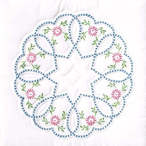 """*NEW* HEARTS 9/"""" QUILT BLOCK EMBROIDERY PATTERN from Jack Dempsey Inc."""