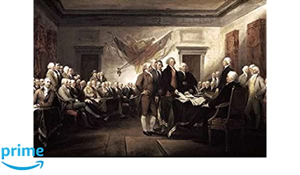 The Declaration of Independence  by John Trumbull   Paper Print Repro