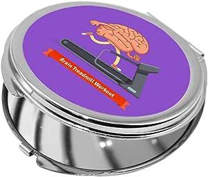 مرآة جيب، بتصميم رياضي - نشط دماغك ، شكل دائري