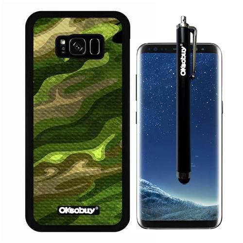 Galaxy S8 Plus Case, Tire Green Army Camo Case, OkSoBuy Ultra Thin Soft Silicone Case for Samsung Galaxy S8 Plus - Tire Green Army Camo