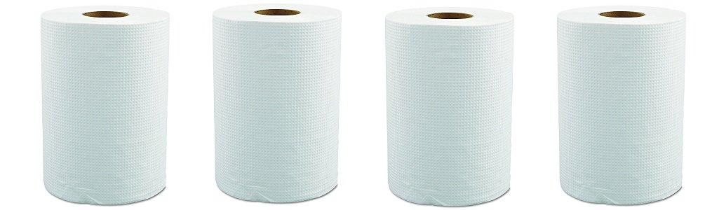 Morcon Paper W12350 Hardwound Roll Towels, 8'' x 350ft, White (Case of 12 Rolls) (4-(Case of 12 Rolls))