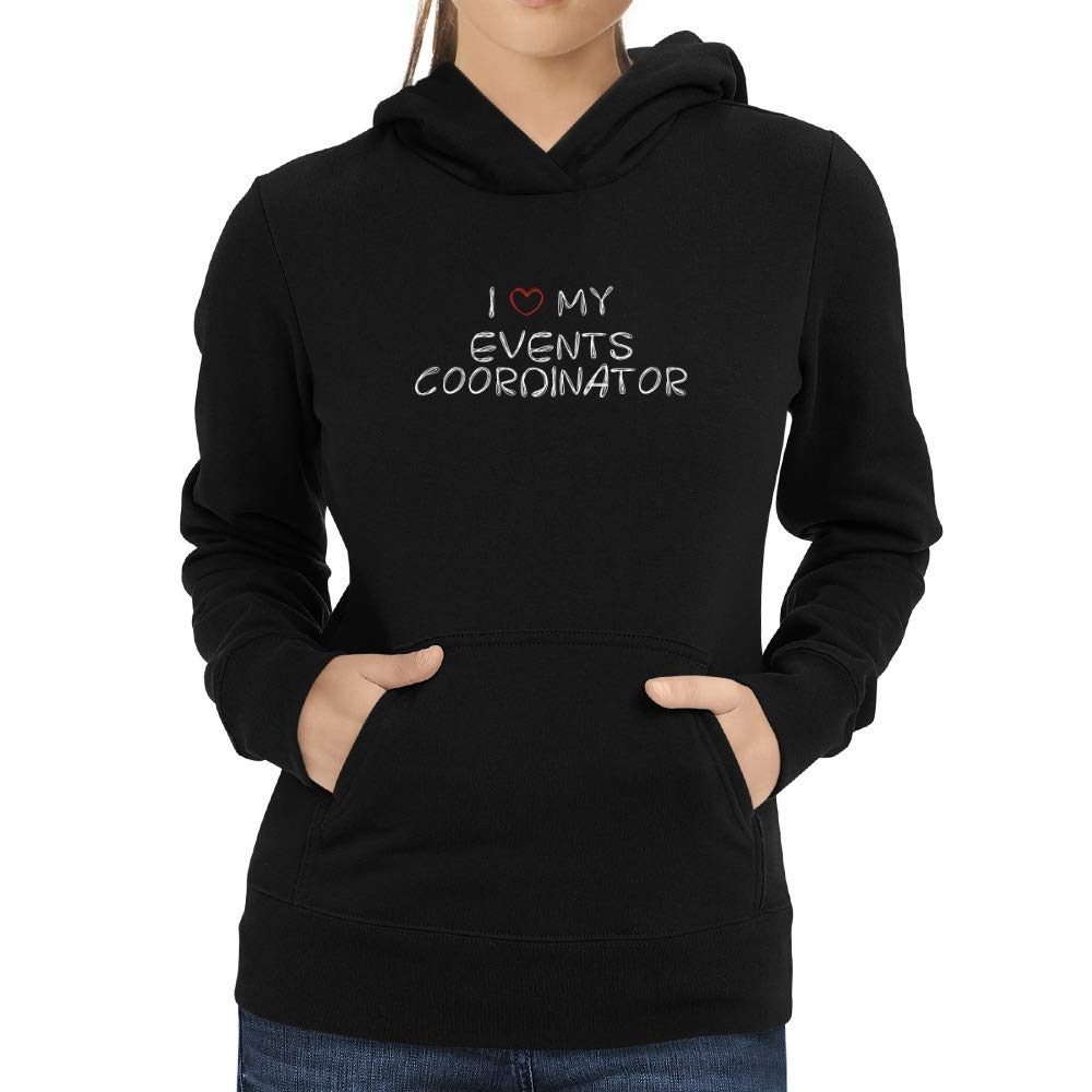 Eddany I Love My Events Coordinator Scribbled Font Women Hoodie