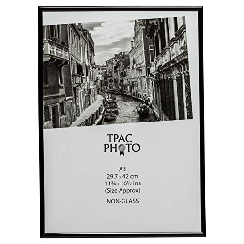 Marco para fotos, certificados o poster, color negro, apertura posterior, sin cristal, A3 (30 x 42 cm), de Hampton Frames, MARA3BLK