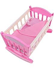 B Baosity Lettino Culla Giocattolo Miniature Abbellimenti Toys Mobili Letto per Casa Bambola