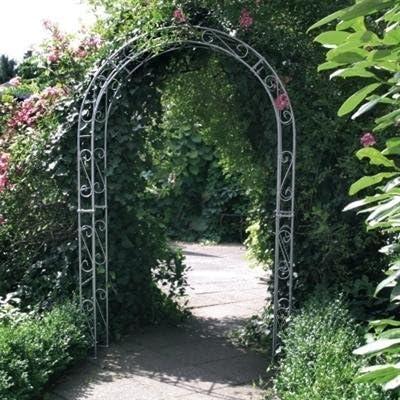 Arco, Rank Rose, enrejado, Pergola, con decoración hierro ...