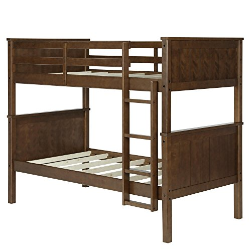 Dorel Living DL1008BB Maxton Twin over Twin Bunk Bed, Mocha