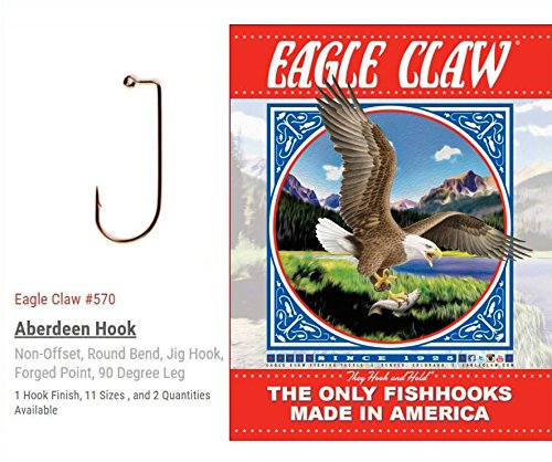 1000 Eagle Claw Jig Hooks Model 570 Size 2/0 for sale  Delivered anywhere in USA