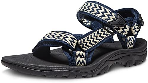 ATIKA Mens Outdoor Hiking Sandals Open Toe Arch Support Strap Water Sandals  Lightweight Athletic Trail Sport Sandals Shoes Men