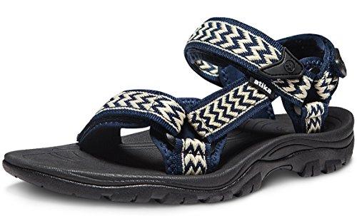 - ATIKA Men's Sport Sandals Maya Trail Outdoor Water Shoes, Maya(m111) - Gold & Navy, 5