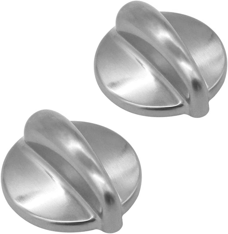 WB03K10303 Chrome Cooktop Control Knob Heavy Duty Metal Knobs Replacement Compatible with GE Replacement by AMI PARTS