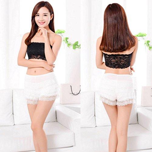 Sicurezza Ruffle Bianca Lace Pants Comvip Donna Underwear Hot nqSHZcaxAw