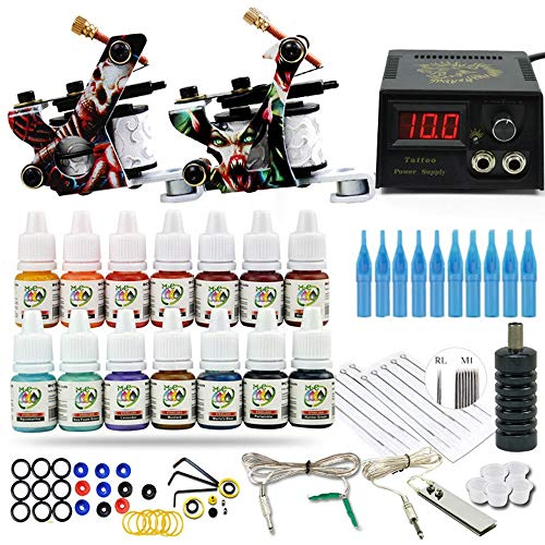 Tattoo Kit Rotary Power Kits Grommets Art with Ink Professional Machine Needles Rubber Tattoos Set Supply