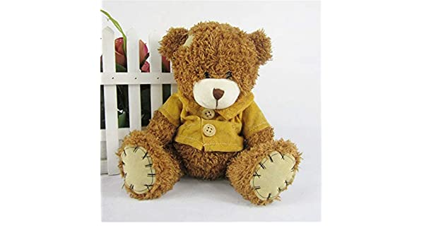 Amazon.com: JEWH Hot Dress Stuffed Teddy Bear Doll - Sit Plush Dolls Bears - Direct Manufacturers Wholesale for Kids Toys (Dark Brown): Toys & Games